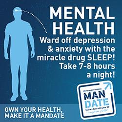 Men's Health Mental Health Depression Sleep